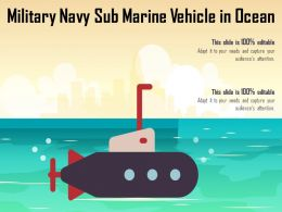 Military Navy Sub Marine Vehicle In Ocean