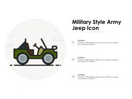 Military Style Army Jeep Icon