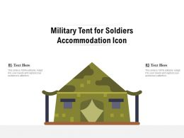 Military Tent For Soldiers Accommodation Icon