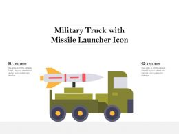 Military Truck With Missile Launcher Icon