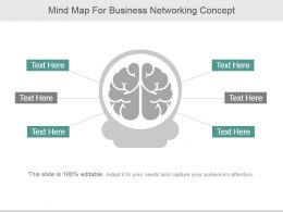 Mind Map For Business Networking Concept