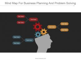 Mind Map For Business Planning And Problem Solving Ppt Samples