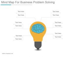 Mind Map For Business Problem Solving Ppt Design