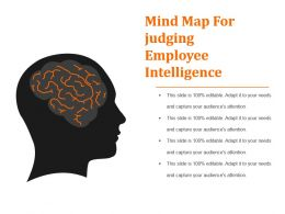 Mind Map For Judging Employee Intelligence Powerpoint Slide Design Templates