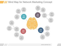 Mind Map For Network Marketing Concept Ppt Slide Styles