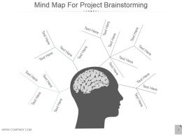 Mind Map For Project Brainstorming Powerpoint Slides
