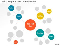 Mind Map For Text Representation Flat Powerpoint Design