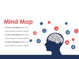 Mind Map Powerpoint Slide Themes Template 1