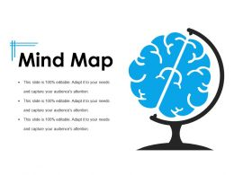 Mind Map Ppt Background Template 1