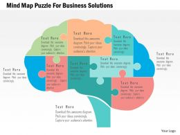 mind_map_puzzle_for_business_solutions_flat_powerpoint_design_Slide01