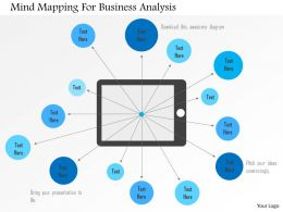 Mind Mapping For Business Analysis Flat Powerpoint Design