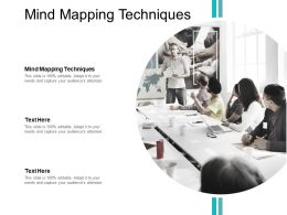 Mind Mapping Techniques Ppt Powerpoint Presentation Show Sample Cpb