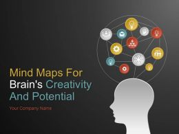Mind Maps For Brains Creativity And Potential PowerPoint Presentation With Slides