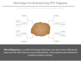 Mind Maps For Brainstorming Ppt Diagrams
