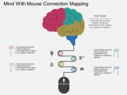 Mind With Mouse Connection Mapping Flat Powerpoint Design