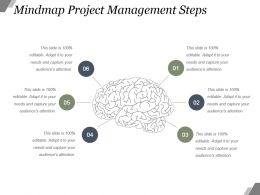 Mindmap Project Management Steps Powerpoint Slide Design Ideas
