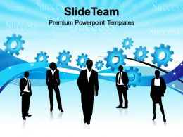 Mini Gears Powerpoint Templates Business Abstract Success Ppt Slides