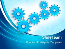 Mini Gears Powerpoint Templates Business Communication Ppt