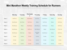 Mini Marathon Weekly Training Schedule For Runners