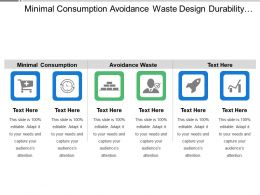 Minimal Consumption Avoidance Waste Design Durability Product Concept Design