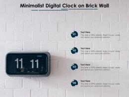 Minimalist Digital Clock On Brick Wall