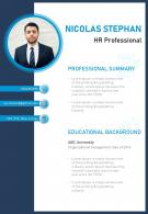 Minimalist Resume Template Design For HR Professionals
