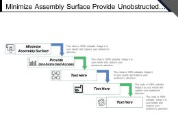 Minimize Assembly Surface Provide Unobstructed Access Maximize Assembly Compliance