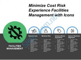 Minimize Cost Risk Experience Facilities Management With Icons