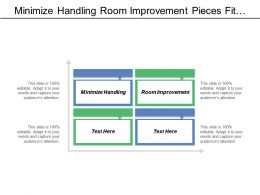 Minimize Handling Room Improvement Pieces Fit Together Series
