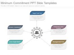Minimum Commitment Ppt Slide Templates