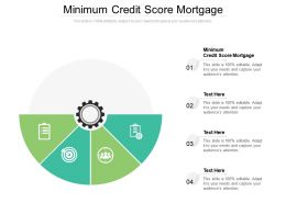Minimum Credit Score Mortgage Ppt Powerpoint Presentation Pictures Clipart Cpb
