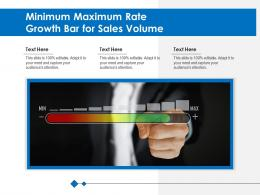 Minimum Maximum Rate Growth Bar For Sales Volume