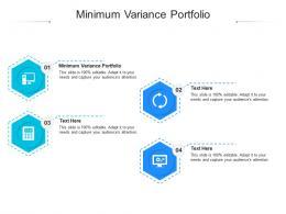 Minimum Variance Portfolio Ppt Powerpoint Presentation File Design Templates Cpb