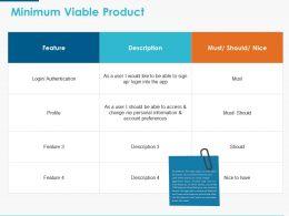 Minimum Viable Product Ppt Powerpoint Presentation Icon Picture