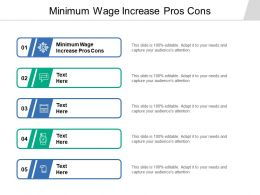 Minimum Wage Increase Pros Cons Ppt Powerpoint Presentation Icon Format Cpb