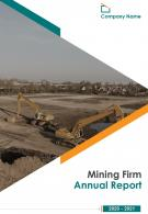 Mining Firm Annual Report 2020 2021 PDF DOC PPT Document Report Template