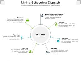 Mining Scheduling Dispatch Ppt Powerpoint Presentation Infographic Template Demonstration Cpb