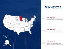 Minnesota Map Powerpoint Presentation PPT Template