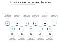 Minority Interest Accounting Treatment Ppt Powerpoint Presentation Pictures Styles Cpb