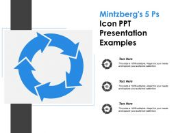 Mintzbergs 5 Ps Icon Ppt Presentation Examples
