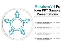 Mintzbergs 5 Ps Icon Ppt Sample Presentations