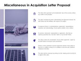 Miscellaneous In Acquisition Letter Proposal Checklist Ppt Powerpoint Slides