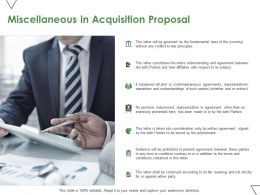 Miscellaneous In Acquisition Proposal Ppt Powerpoint Presentation Model Influencers