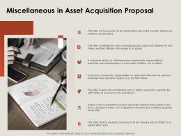 Miscellaneous In Asset Acquisition Proposal Ppt Powerpoint Presentation File Elements