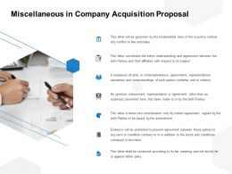 Miscellaneous In Company Acquisition Proposal Ppt Powerpoint Presentation File