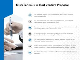 Miscellaneous In Joint Venture Proposal Ppt Powerpoint Presentation Outline