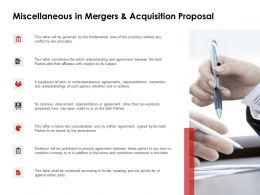 Miscellaneous In Mergers And Acquisition Proposal Agenda Ppt Powerpoint Slides