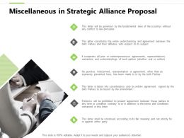 Miscellaneous In Strategic Alliance Proposal Ppt Powerpoint Presentation Designs