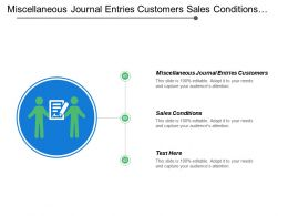 Miscellaneous Journal Entries Customers Sales Conditions Accounting Cost Center