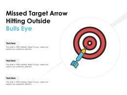 Missed Target Arrow Hitting Outside Bulls Eye